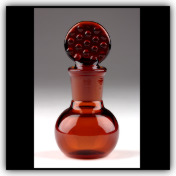 Bottle with Ground Stopper Amber