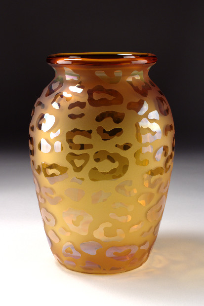 Leopard Vase - Click Image to Close