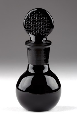 Bottle with Ground Stopper Black