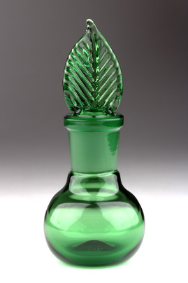 Bottle with Ground Stopper Green