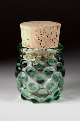 Large Polka Dot Jar Green