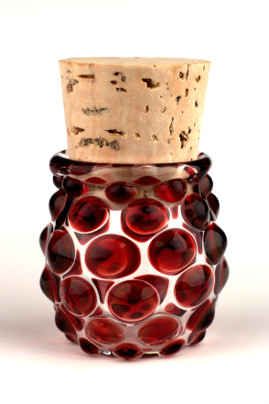 Small Polka Dot Jar Red