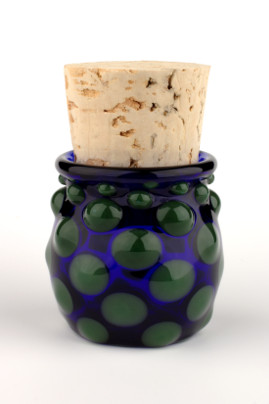 Small Polka Dot Jar Green/Blue