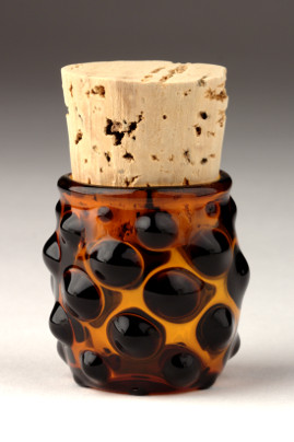 Small Polka Dot Jar Black/Yellow